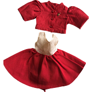 Dress and Jacket For Composition Dolls 1930s