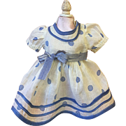 Ideal Baby Take a Bow Tagged Dress 1930s