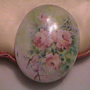 Lovely Large Hand-painted Rose piece - Signed