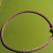 18.5 Inch Viking Stitch Necklace Hand Made in Sterling Silver
