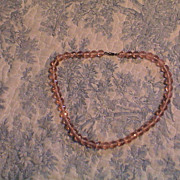 1940's to 1950's Pink Crystal beads