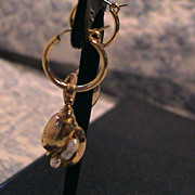 Pearl and Gold Plated earrings