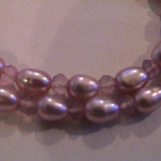 Artisan  Pink Cultured Freshwater Necklace