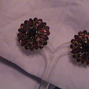 Wonderful Bohemian Garnet Earrings
