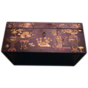 Lovely Antique Wooden Oriental Box