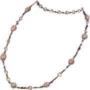 Dramatic Artisan Pearl and Silver Necklace