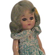 1950's Virga Hard Plastic Doll with Green Hair 8""