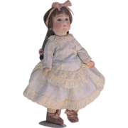 "Pale Blue Vintage Dress - Fits 12"" Doll"