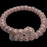 Fresh Water Cultured Pearl Bracelet - adjustable