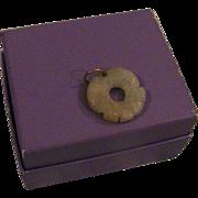 Carved Jade Circle Pendant