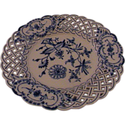 Meissen Blue Onion Pierced Dessert Plate