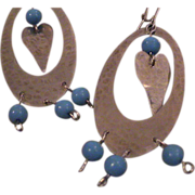 Artisan Argentium Silver Earrings  .935 Silver