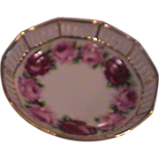 Small Rose Slotted Bowl  Schumann Germany