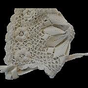 Antique Irish Crochet Bonnet