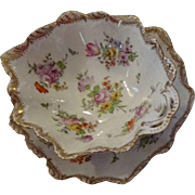 Very Beautiful Dresden Serving Dish with matching Saucer