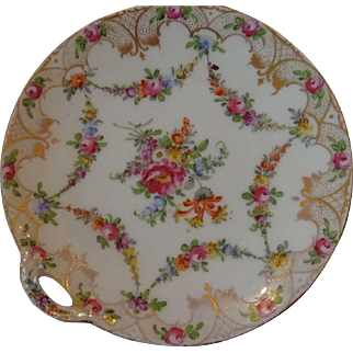 Dresden Candy Dish with Handle, Marked