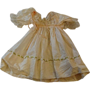 Silk Dress With Lace and Ribbon Trim for Medium Sized Doll
