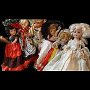 Six Vintage Dolls