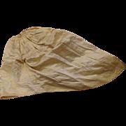 Antique Cream Silk Skirt for French Fashion