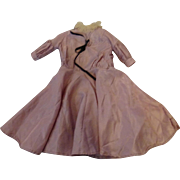 Very vintage Taffeta Dress for Leather bodied doll
