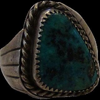 Size 9 1/2 Large Presence Turquoise Ring