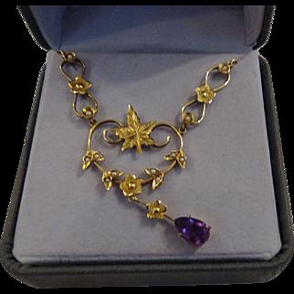 Beautiful 14k 1920's Necklace