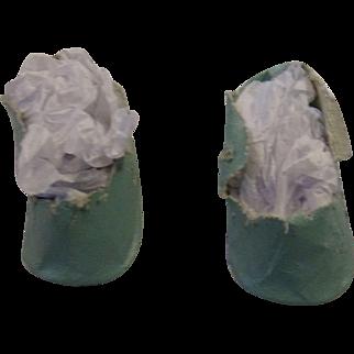 Vintage Blue Oilcloth Shoes