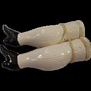 Pair Vintage China Legs