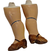 Pair Vintage Replacement Doll Legs