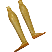 Pair of Antique Wooden Legs