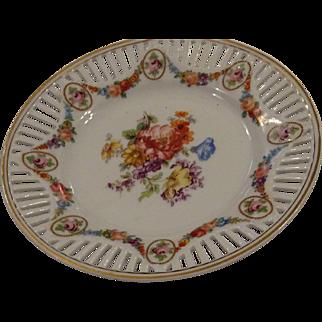 Beautiful Schumann Type Dessert Plate, Marked Germany