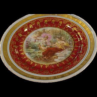 Vintage Dessert Plate with Figural Images