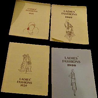 4 Ladies Fashions Booklets fCopywright 1979