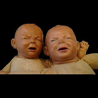 Early Vinyl Twin Babies