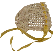 Beautiful Crocheted Bonnet for your Large Baby Doll