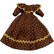 """Small Lady Dress for 9/12""""doll with Slip and Pantaloons attached"""
