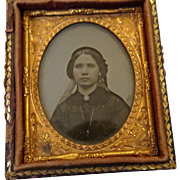 Lovely 1860's Small Ambrotype For Your Doll