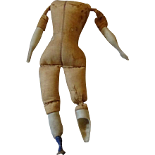 """11"""" Antique cloth body for China Head Doll"""