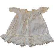 "Antique Cotton Doll Dress 9 1/2"" Long"
