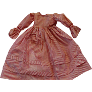 Vintage Silk Stripped Dress for China Head Doll