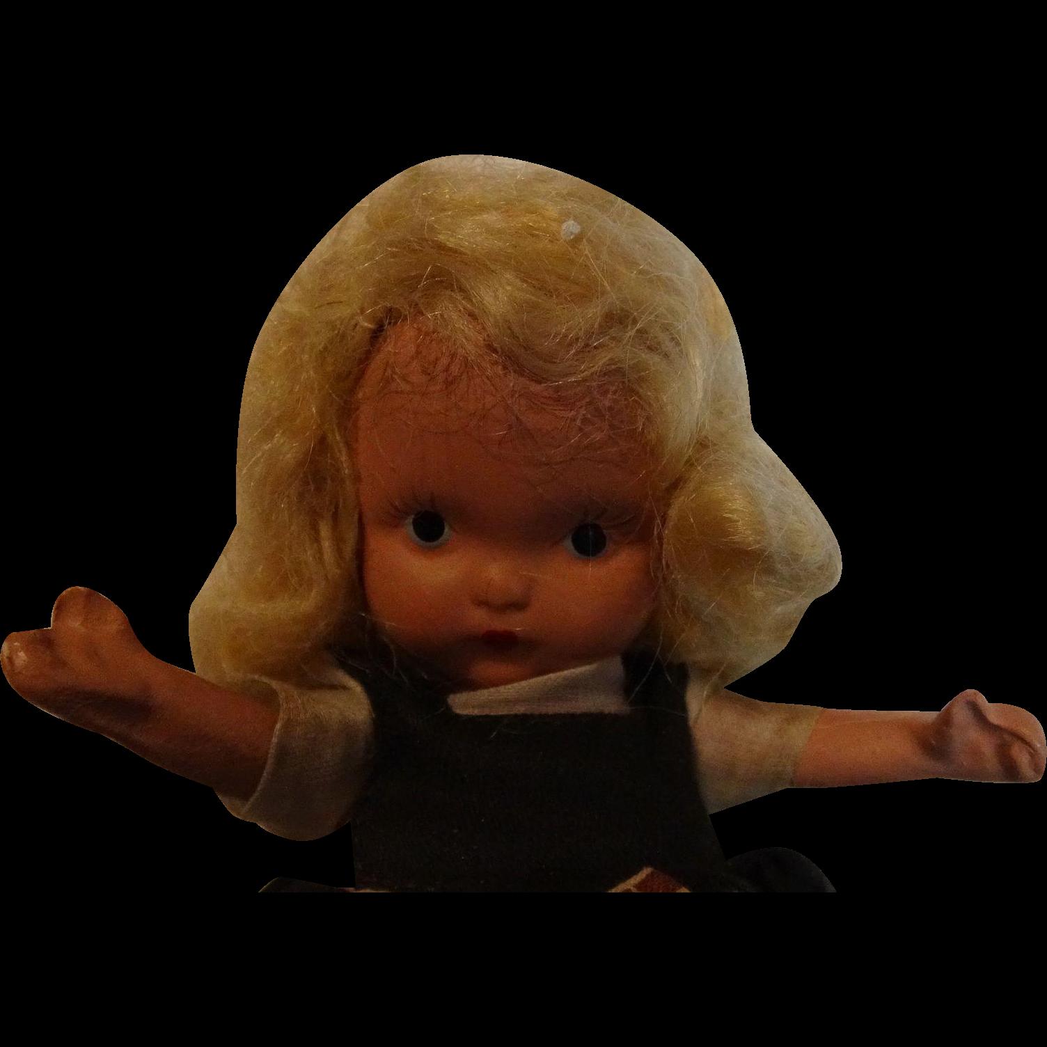 Early Swedish Storybook Doll---Free Shipping