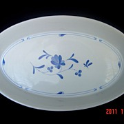 Royal Worcester Blue Bow China Oval Serving Dish