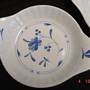 Royal Worcester Blue Bow China Individual Au Gratin Dish