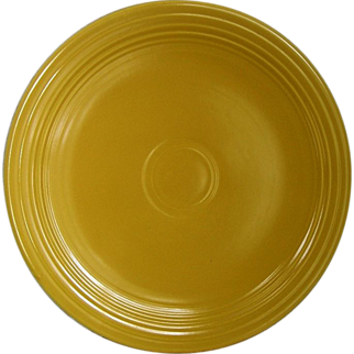 "Homer Laughlin Fiestaware Yellow 12"" Round Chop Plate"