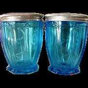 Pair Woodworth Karess Cold Cream Jars