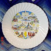 Vintage Illinois Souvenir Plate