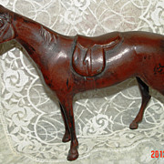 Cast Metal Horse Figurine