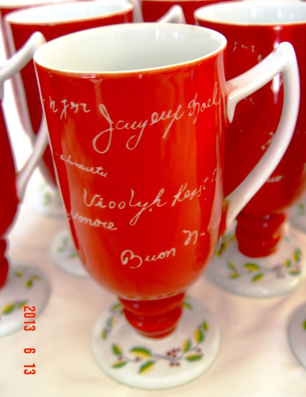 Christmas Eggnog Cups by Wales China - Made in Japan from ...