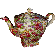 Royal Winton Grimwades Ltd. English Teapot in Chintz Summertime Pattern