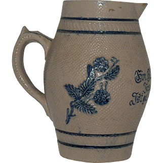 White's Utica 1800's German Beer Pitcher